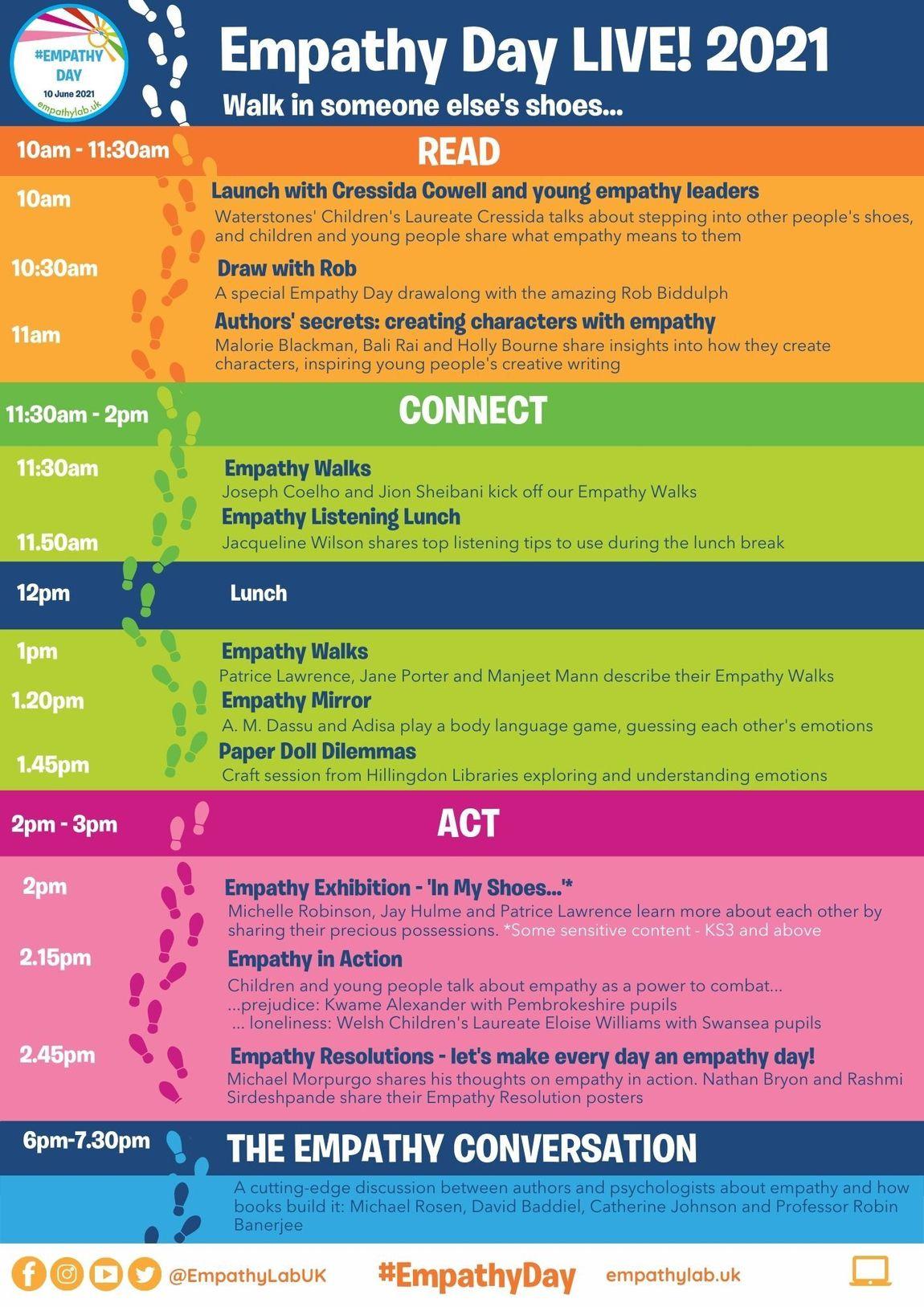 Empathy Day Live 2021 Programme