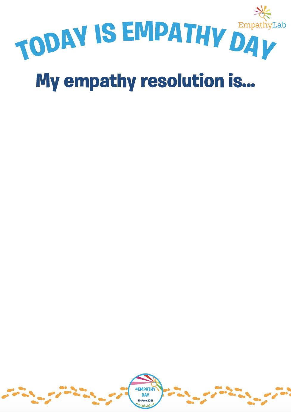 Empathy Resolution Template