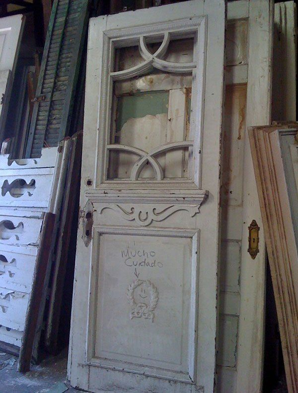 Stripping — White Door in New Orleans, LA - Doors New Orleans, LA The Bank Architectural Antiques
