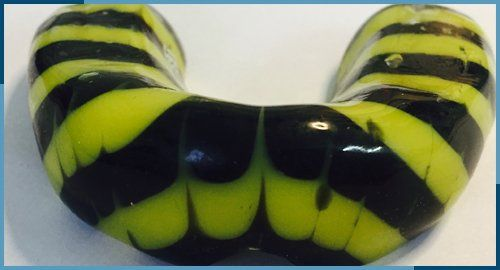 striped mouthguard