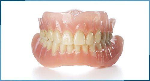 cleaned dentures