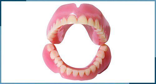 dentures displayed