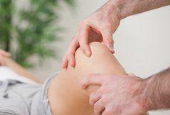 knee being treated
