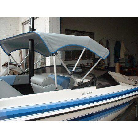 steves upholstery bimini on a speed boat