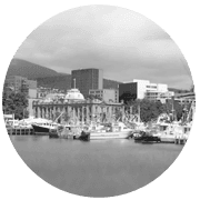 Hobart greyscale circle icon