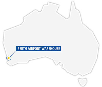Australia map with perth