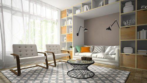 Living room progettata su misura