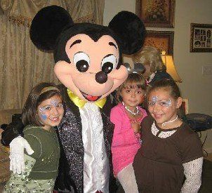 mickey mouse with people