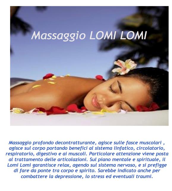 brochure promozionale di massaggio Lomi Lomi