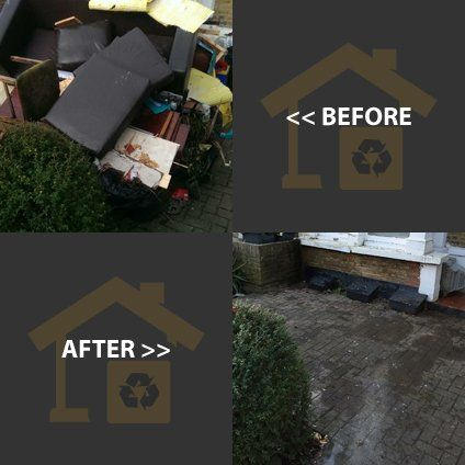 before and after house clearance