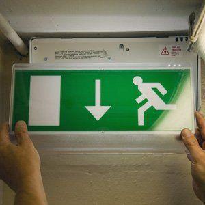 Emergency signboard lighting