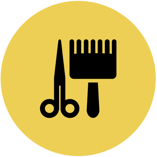 beautician tools icon