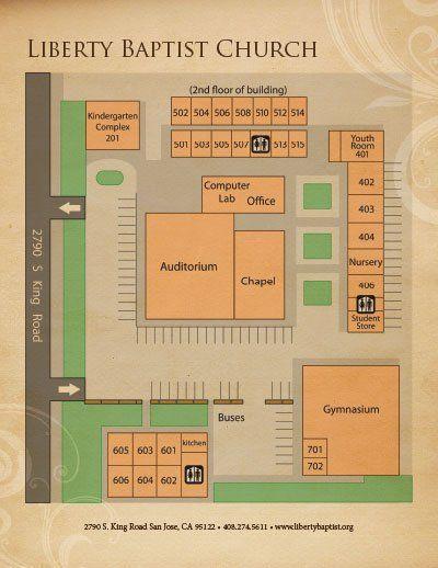 San Jose Campus Map.Liberty Baptist Church San Jose Ca