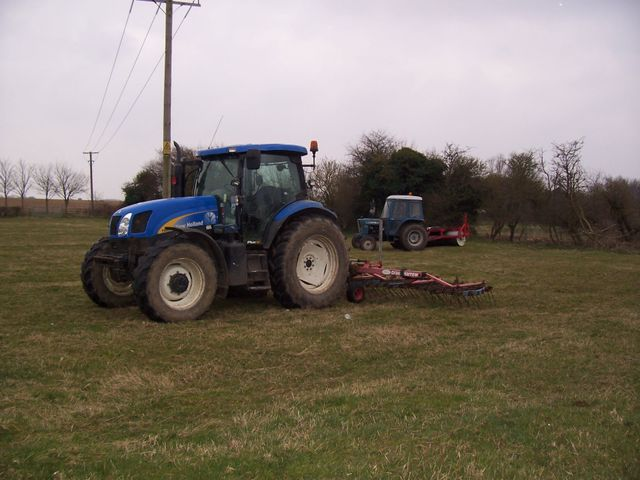 using tractors to scarify a paddock