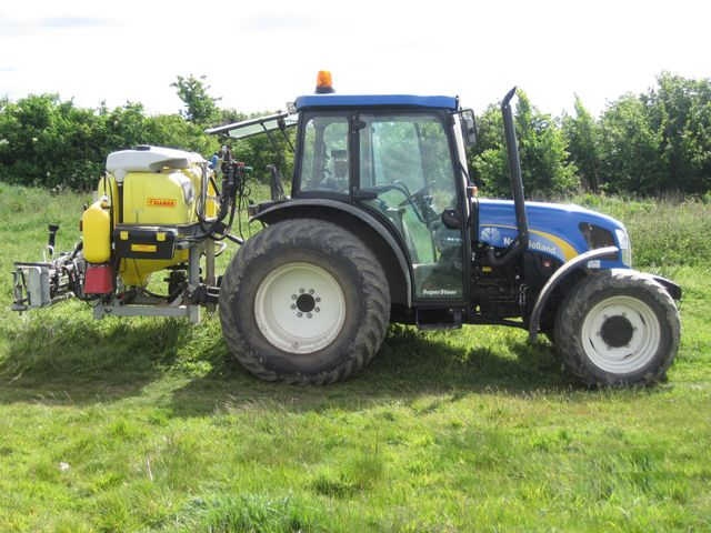 tractor mounted grass treatment tank