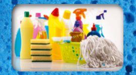 detergenti e spugne per pulizie professionali