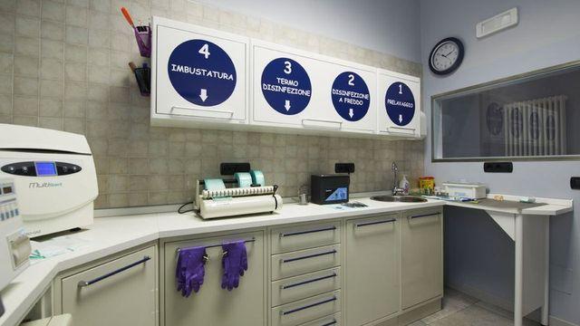 Vista del laboratorio dentistico