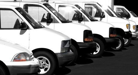 fleet of small vans