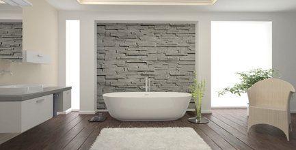 designer bathroom walling