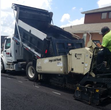 Residential driveway construction