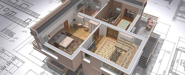 riproduzione in 3D di un appartamento
