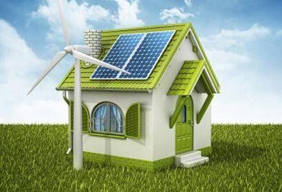 riproduzione in 3D di casetta ecologica con pannelli solari