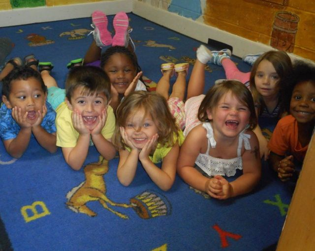 Little girls playing at our day care center in Foley, AL