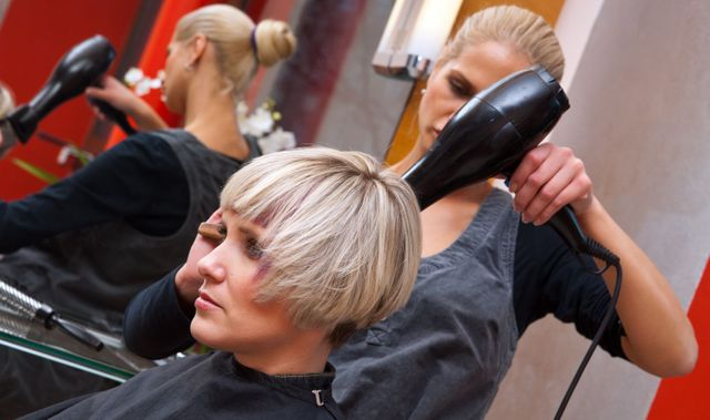 Haircare underway at a salon in Northland