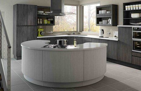 curved island counter