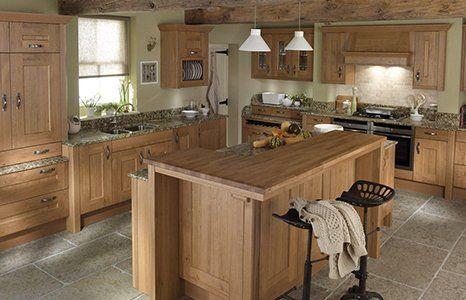 wood finish kitchen