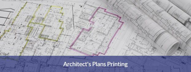 Architect's plans printing service