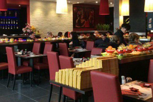 interno del un ristorante Kaiten a Pistoia