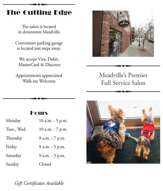 PA hair salon in Meadville