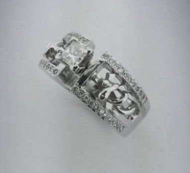 EMS Symbol on custom engagement ring