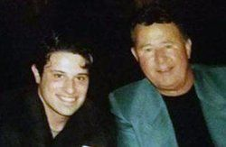 Christopher with Ron Santo - Chicago Cubs