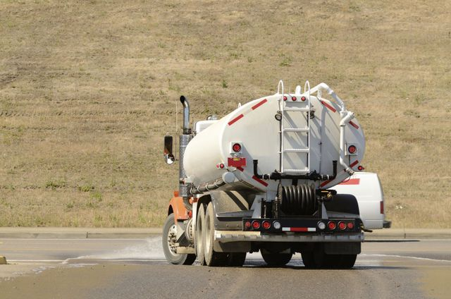 Liquid tanker for septic tank disposal in Baxter, AR