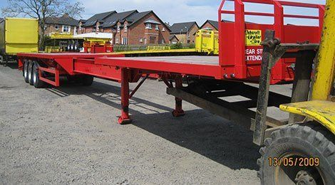 Extendable Rear Steer Flat Trailer