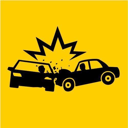 il logo di un incidente tra due macchine