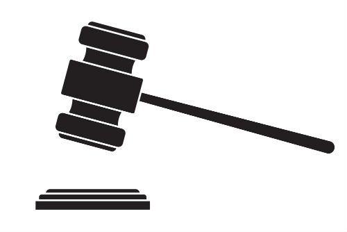 il logo di un martello da giudice