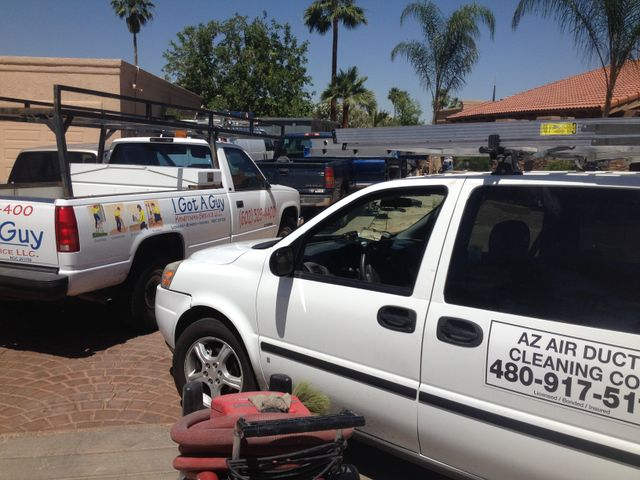 AZ Air Duct van at commercial site