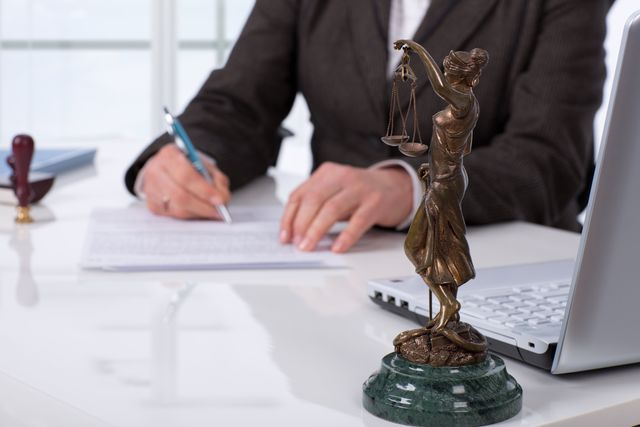 Attorney in Hastings, NE doing paperwork