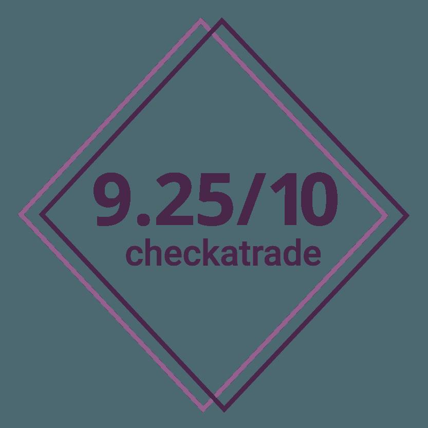 9.25/10 checkatrade