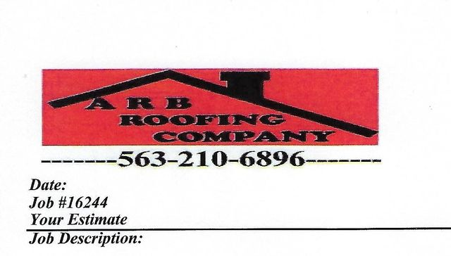 Roofing Contractors | Durant, IA | A R B  Roofing Company