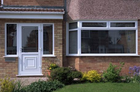 double glazed window and composite door