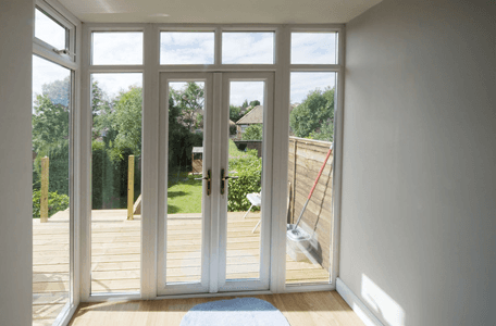 extension with double doors
