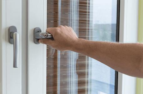 handle to double glazed double door