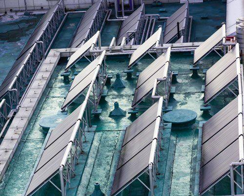 Scaldabagno solare sul tetto