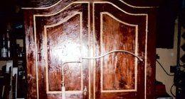 armadio in legno, armadio antico, restauro armadio