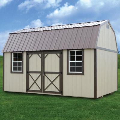 painted side lofted barn in arkansas