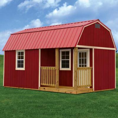 painted side lofted barn cabin in arkansas